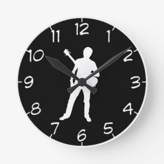 """Guitar player"" design wall clocks"
