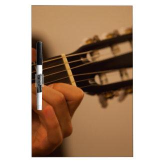 guitar player dry erase board