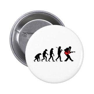 Guitar player evolution 2 inch round button
