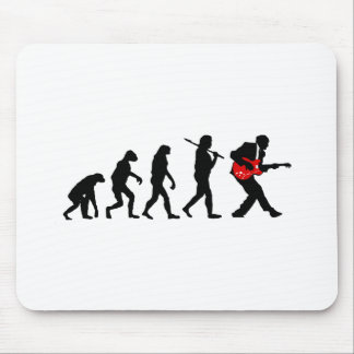 Guitar player evolution mouse pad