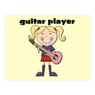 Guitar Player Female Tshirts and Gifts Postcard