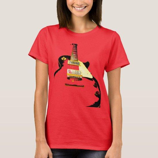 Guitar Player Guitarist Abstract rocknroll Music T-Shirt