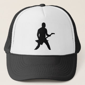 Guitar player guitarist in a rock band hat