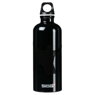 guitar player hands up faded shadow patchy SIGG traveler 0.6L water bottle