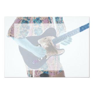 guitar player invert colors neat musician design personalized announcement