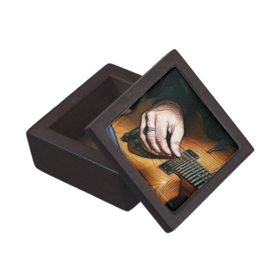 Guitar player keepsake box