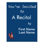 guitar player kneeling abstract red.png 4.25x5.5 paper invitation card