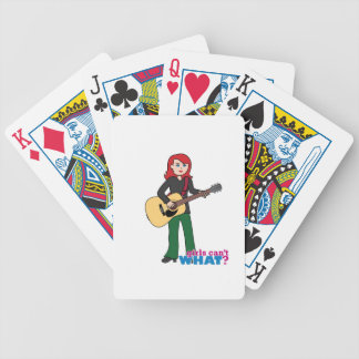 Guitar Player Light/Red Bicycle Playing Cards