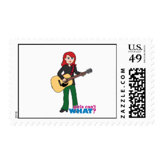 Guitar Player Light/Red Postage