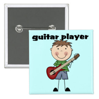 Guitar Player - Male Tshirts and Gifts Button