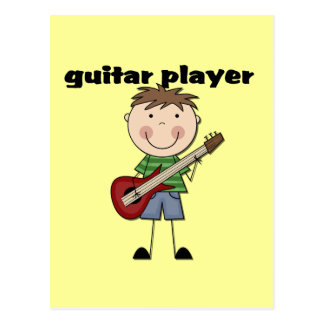 Guitar Player - Male Tshirts and Gifts Postcard