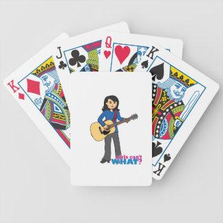 Guitar Player - Medium Bicycle Playing Cards
