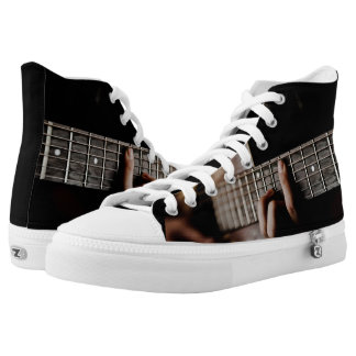 Guitar Player Music High Top Shoes