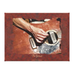 Guitar-Player Music-lover Wall Art Stretched Canvas Prints