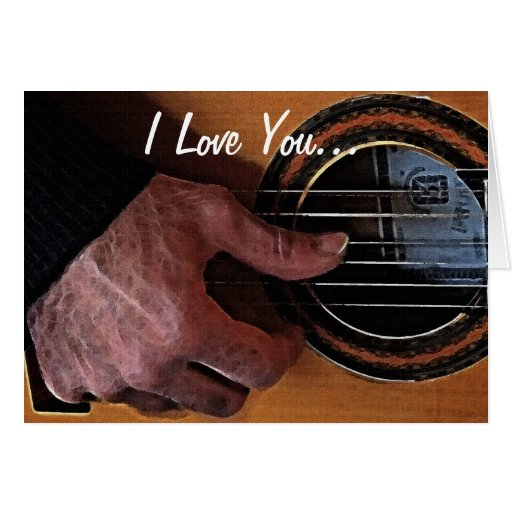 Guitar Player Music Loving Romantic Greeting Cards