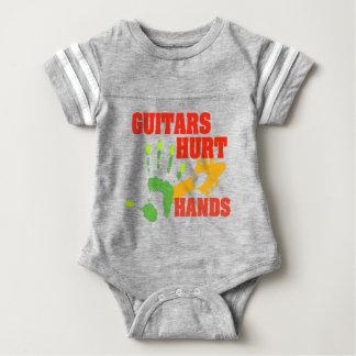 Guitar Player Music Retro Distressed Rocknroll Baby Bodysuit