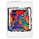 Guitar Player Musician Colorful Pop Art Style Card