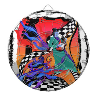Guitar Player Musician Colorful Pop Art Style Dartboard