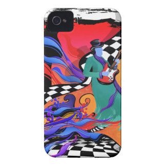 Guitar Player Musician Colorful Pop Art Style iPhone 4 Case