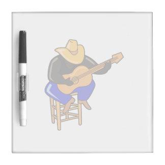 guitar player on stool head down dark skin.png Dry-Erase board