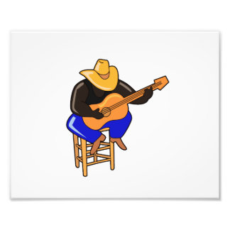 guitar player on stool head down dark skin png photo art