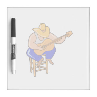 guitar player on stool head down graphic.png Dry-Erase whiteboard