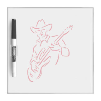 guitar player outline cowboy red.png dry erase board