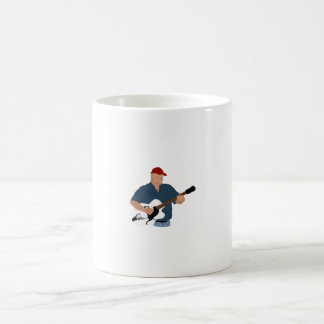 Guitar Player Painting Semi Hollow Red Hat Blue Sh Coffee Mug