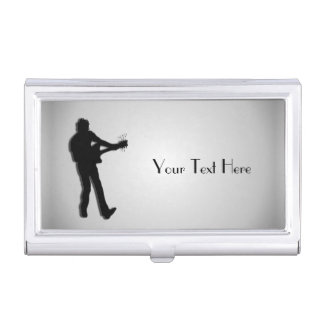 Guitar Player Personalized Business Card Case
