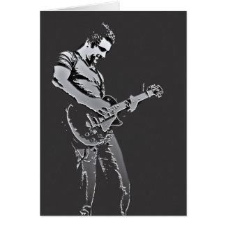 Guitar Player Photo Art Card