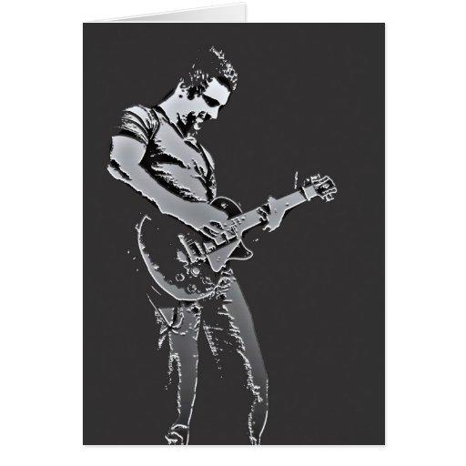 Guitar Player Photo Art Card