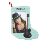 Guitar Player Photo Christmas Stocking