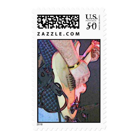 guitar player postage