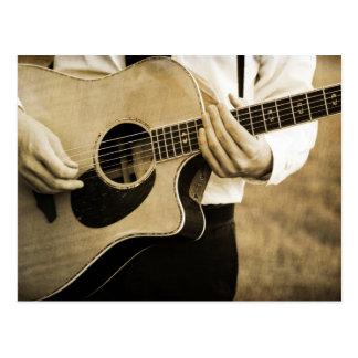 Guitar Player Postcard
