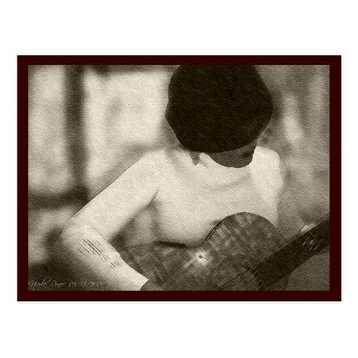 Guitar Player Post Card