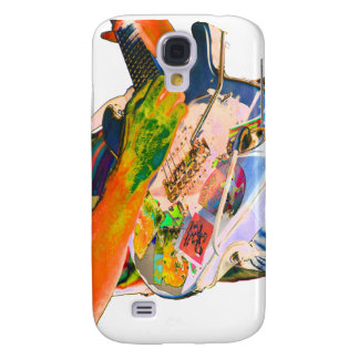 Guitar player,  psychadelic colors music design galaxy s4 case