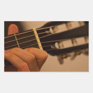guitar player rectangular sticker