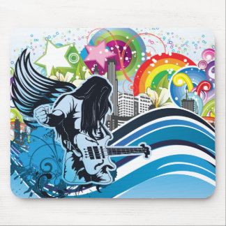 Guitar Player ~ Rock Heavy Metal Band Music Mouse Pad
