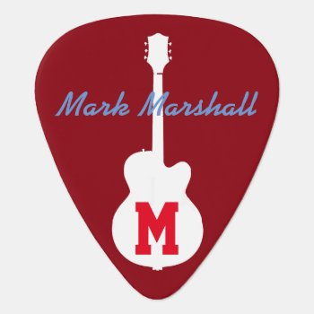 Guitar Player Rock Music Guitar Pick by mixedworld at Zazzle