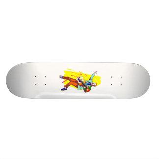 Guitar Player Rockabilly Graphic Image Design Skateboard