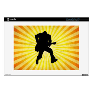 """Guitar Player Silhouette Decal For 13"""" Laptop"""