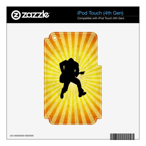 Guitar Player Silhouette iPod Touch 4G Skin