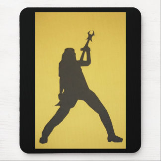 Guitar Player Silhouette Mouse Pad