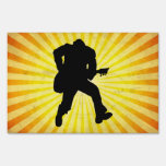 Guitar Player Silhouette Sign