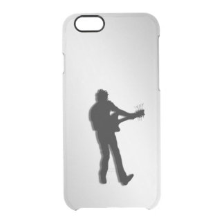 Guitar Player Silver Clear iPhone 6/6S Case