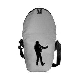 Guitar Player Silver Courier Bag