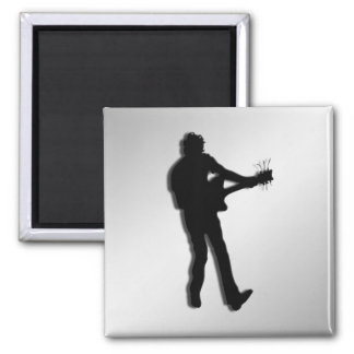 Guitar Player Silver Magnet