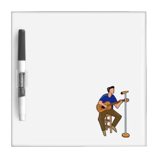 guitar player sitting abstract mic blue.png Dry-Erase board