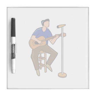 guitar player sitting abstract mic blue.png dry erase board