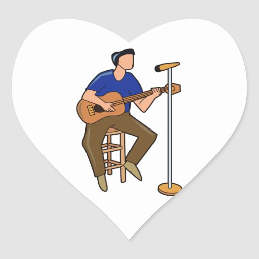 guitar player sitting abstract mic blue.png stickers